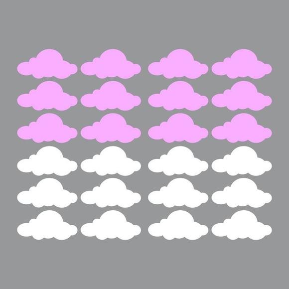 Aparador Barba E Corpo ~ Adesivo de Parede Cartela Nuvens ARTM decoraç u00e3o criativa Elo7