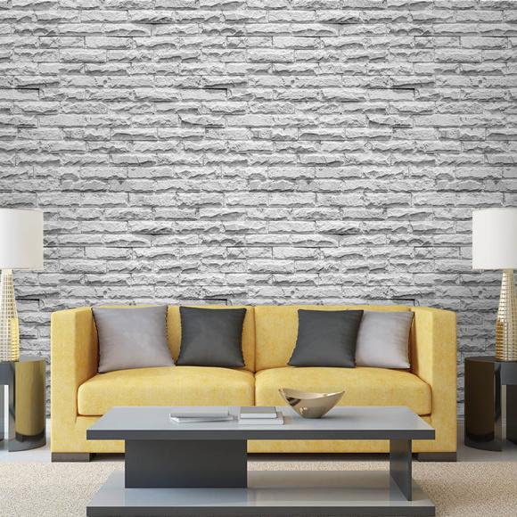 Papel de parede pedra branca no elo7 virgus adesivos - Papel adhesivo para paredes ...