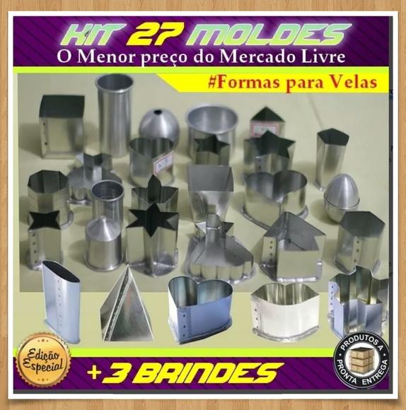 kit 27 moldes para velas artesanais fc formas elo7