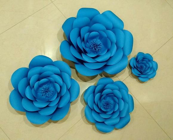 Flores de papel gigante elo7 for Rosas de papel