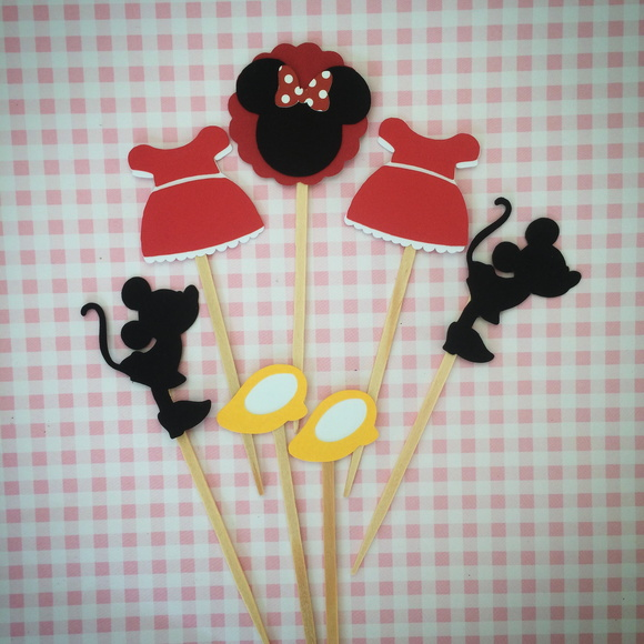 Topper de Doce - Minnie