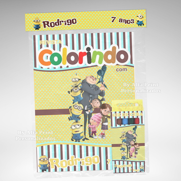 Kit Colorir Meu Malvado Favorito+ Brinde