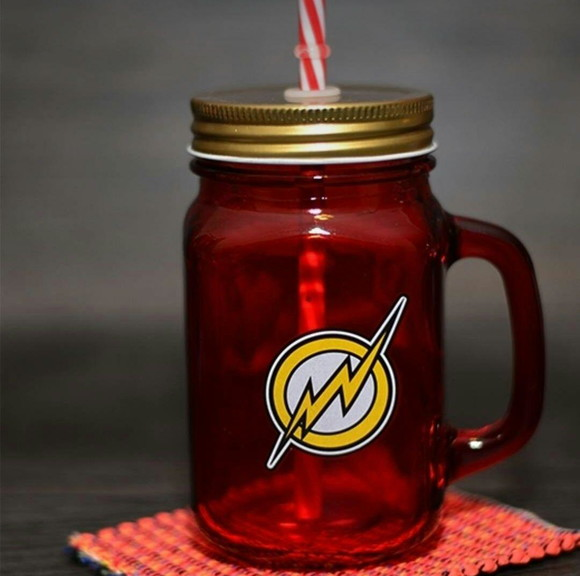 Caneca Mason Jar The Flash