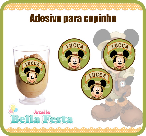 Adesivo Safari ~ Adesivo Mickey Safari Elo7