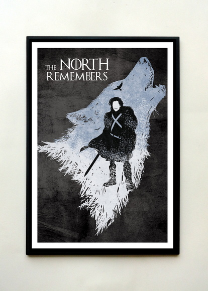 Quadro Game of Thrones (North)