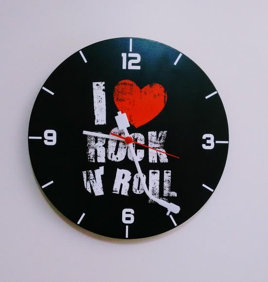 Relógio de Parede I Love Rock N Roll