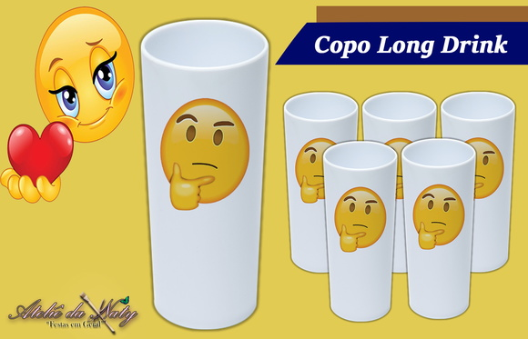 Copo Long Drink - Emojis