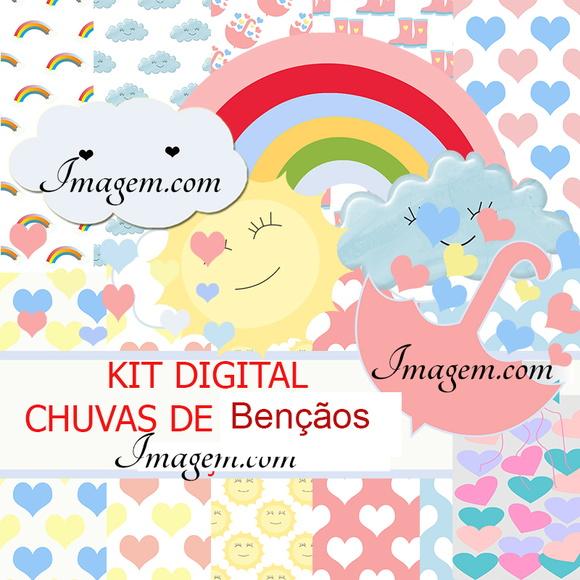 Kit Digital chuva de bençãos