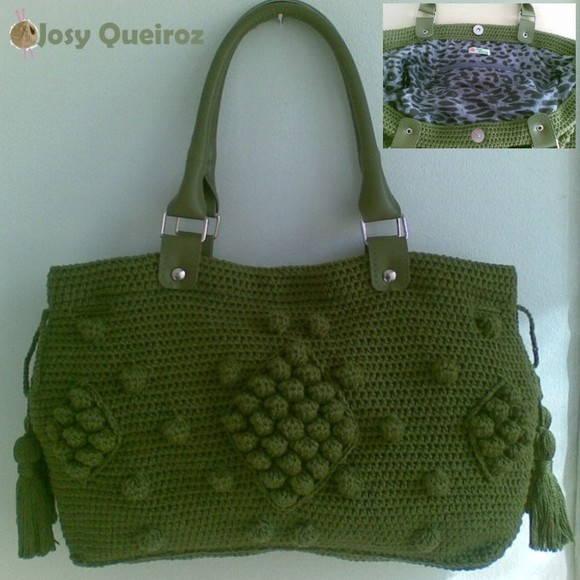 Bolsa de Crochê Jolie - FRETE GRATIS no Elo7   Josy Queiroz (C8DB0) 98678a63c4