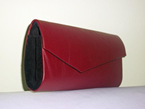 Bolsa De Couro Legitimo Vermelha : Mini clutch de couro leg?timo vermelha oficina arte