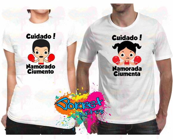 Camisas Namorado(a) Ciumenta(o) 2 Pçs No Elo7