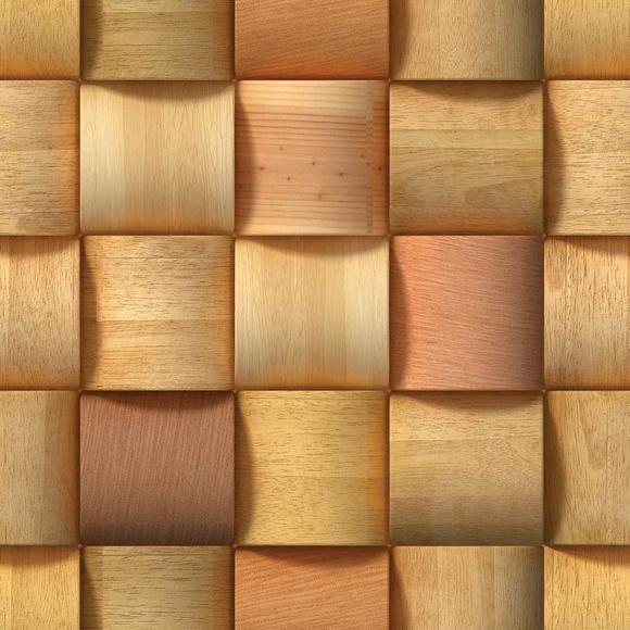 Papel de parede madeira 3d elo7 for Papel de pared rustico