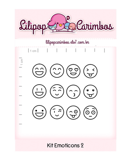 Kit de carimbos - kit Emoticons 2