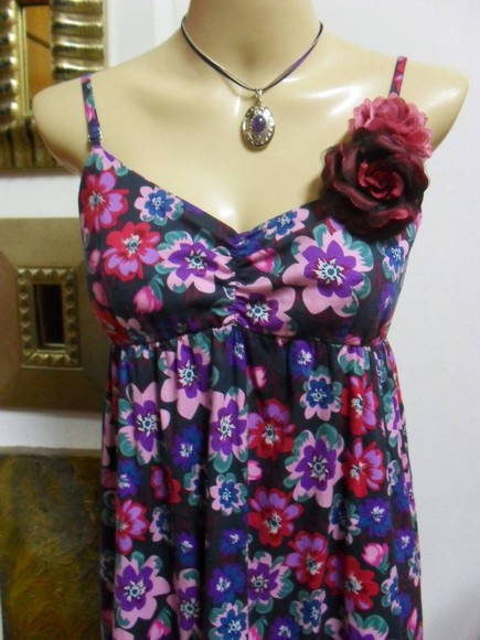 OFF TOTAL Vestido Longo Flowers Rhapsody