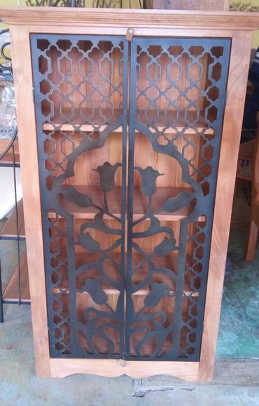 Arm rio de madeira e chapa de ferro artesanato roger elo7 - Armario de chapa ...