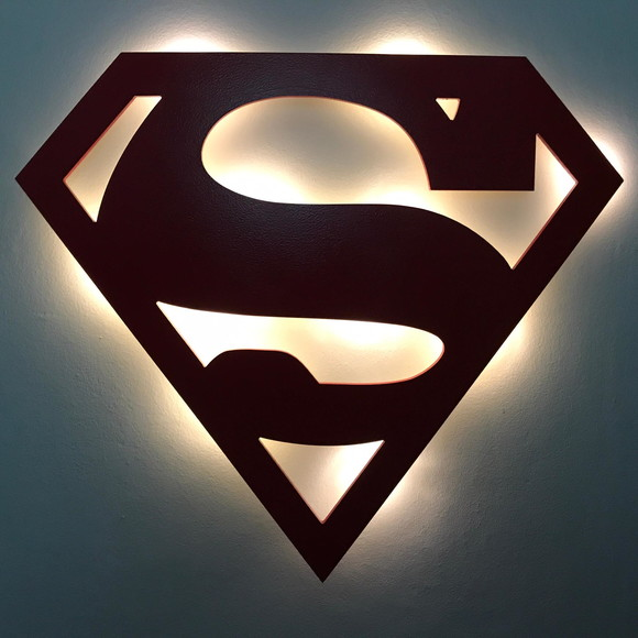 Luminária Superman Led MDF