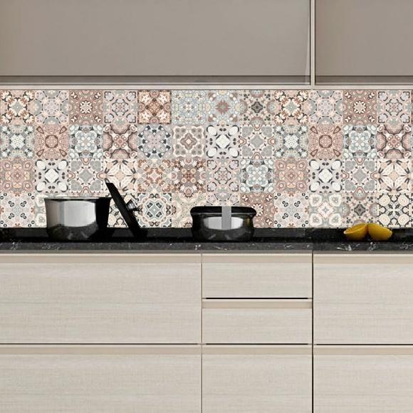 Aparador Kd Moveis ~ Adesivo Azulejos Cozinha Clara no Elo7 Colou Adesivos