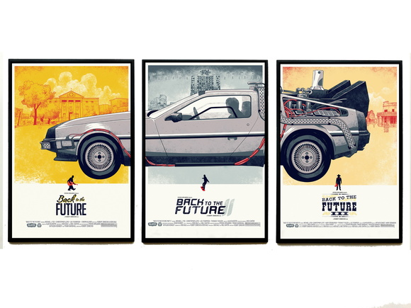 Trio de quadros De Lorean (Cartaz)