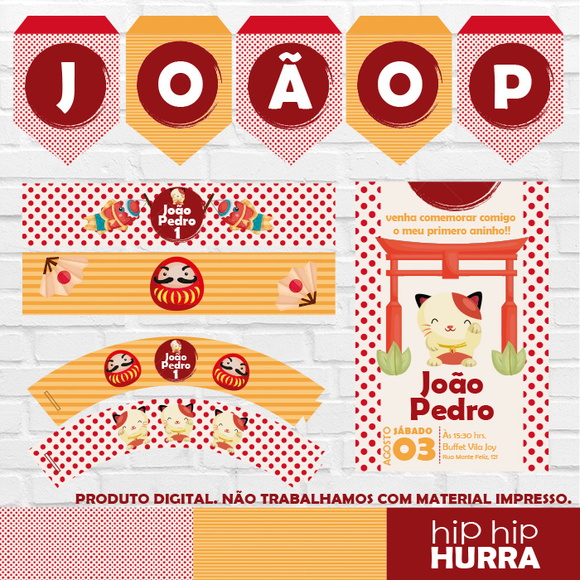 Kit Festa Digital - Japão