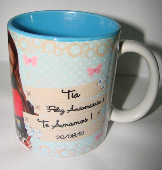 Caneca de porcelana color