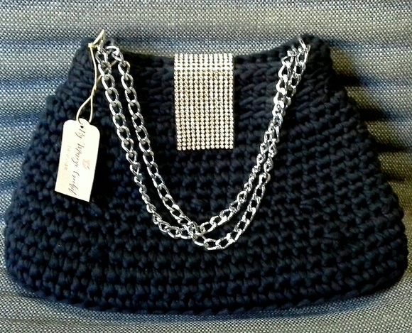 Bolsa De Mão Em Crochet : Bolsa crochet social de m?o ateli? arte do vale