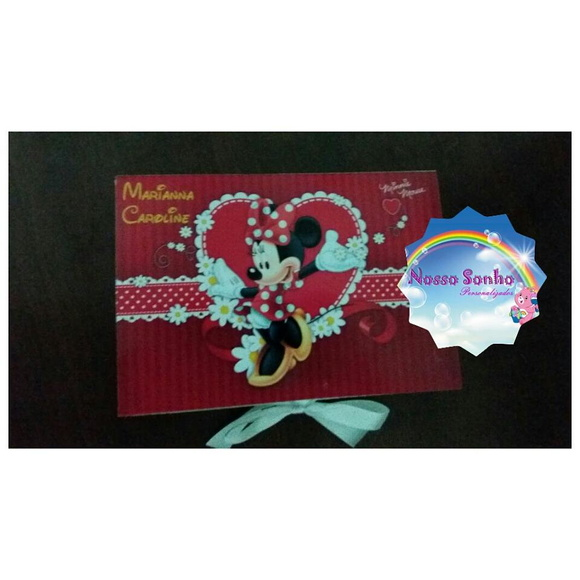 Caixa kit pintura minnie