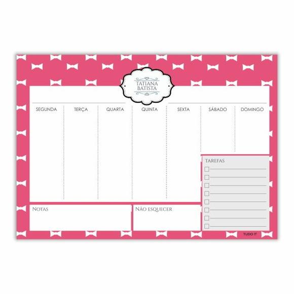 Planner semanal para imprimir elo7 for Planner casa gratis
