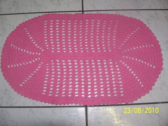 Tapete Oval Rosa