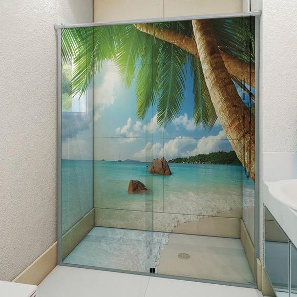 Adesivo De Emagrecimento ~ Adesivo Para Box De Banheiro 3D Paraíso 5 no Elo7 6Formas Adesivos Decorativos (9ACA05)