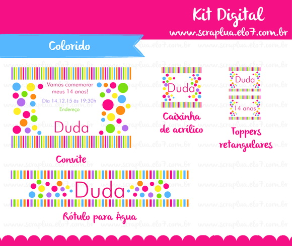 Kit Digital Colorido