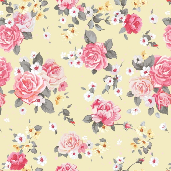Papel De Parede Floral Rosas 97 No Elo7