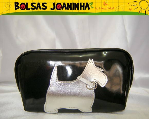SCOTTISH TERRIER PRATA ESTOJO PRETO