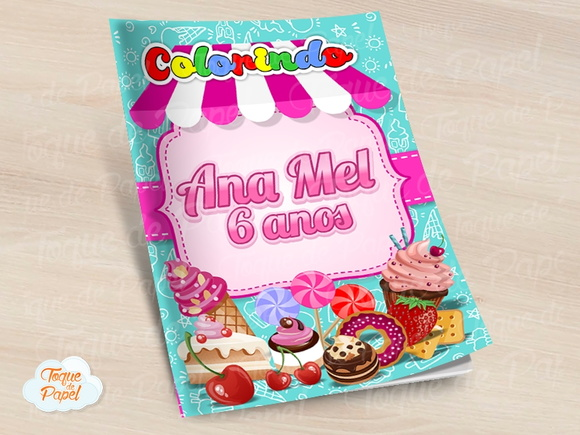 Revista colorir Confeitaria Doces