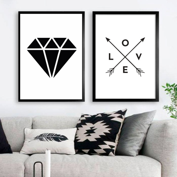 Poster love and diamond