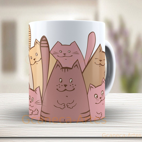 Caneca gato cute - cat, gatos cód: 1162