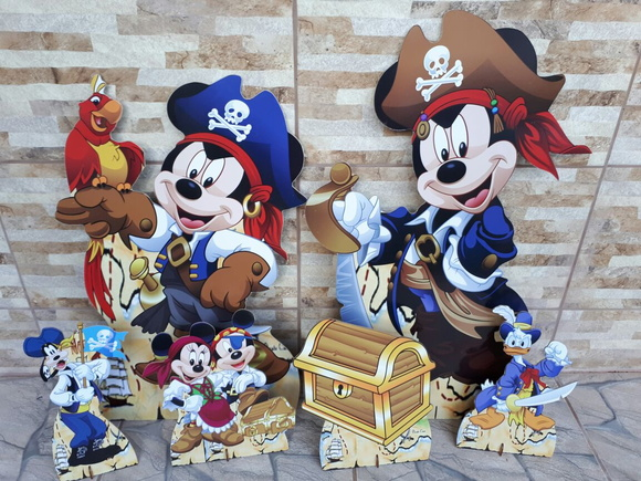 Kit Mickey Pirata --- mdf