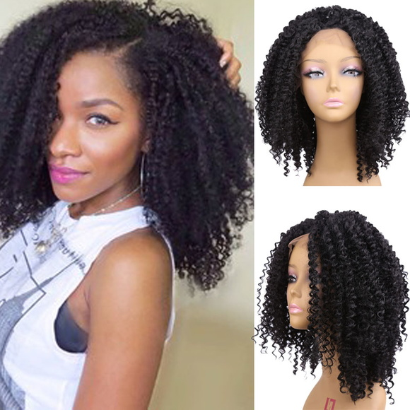Front Lace Cabelo Humano Afro 40 cm