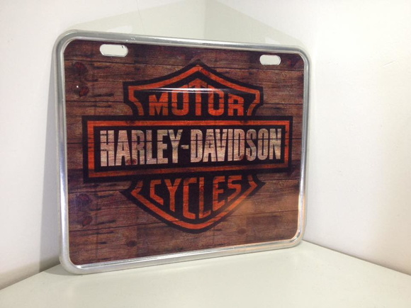 Placa decorativa de moto presente top