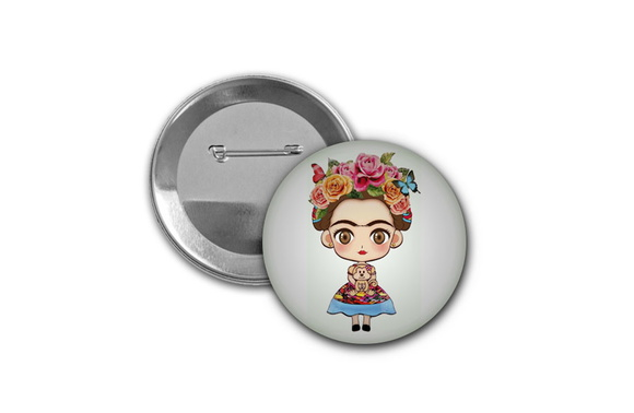 Botton Frida Kahlo - 4,5cm
