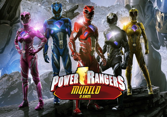 Painel 2x1 Power Ranger