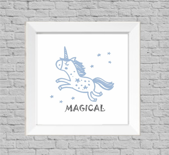 Quadro infantil unicornio magical