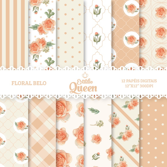 Kit Digital Floral Shabby Chic