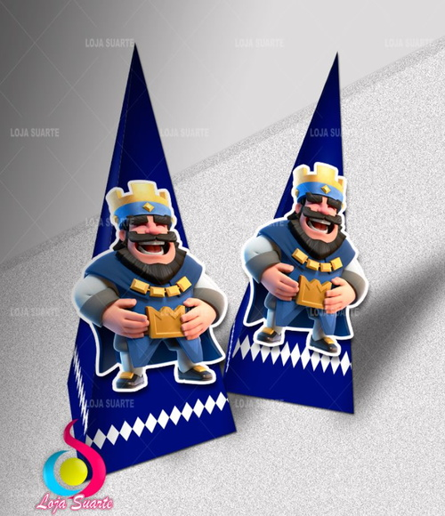 Cone Piramide Clash Royale + Personagem