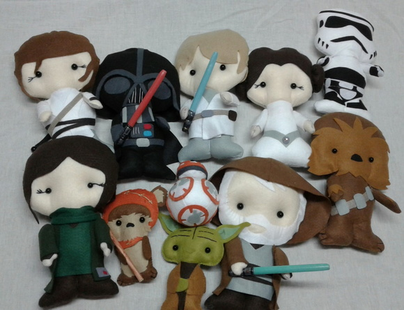 Mini Bonecos de Feltro- Poketts Star War