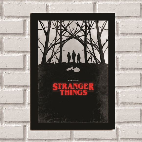 Poster com Moldura Stranger Things 4