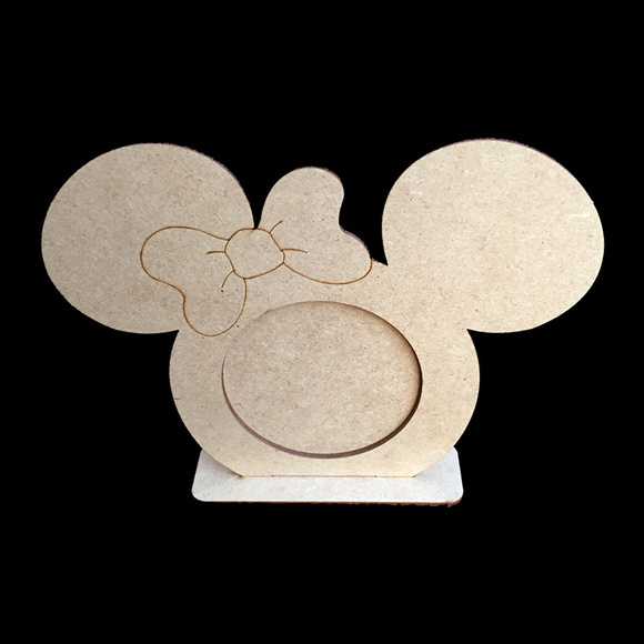 Porta retrato Minnie laser