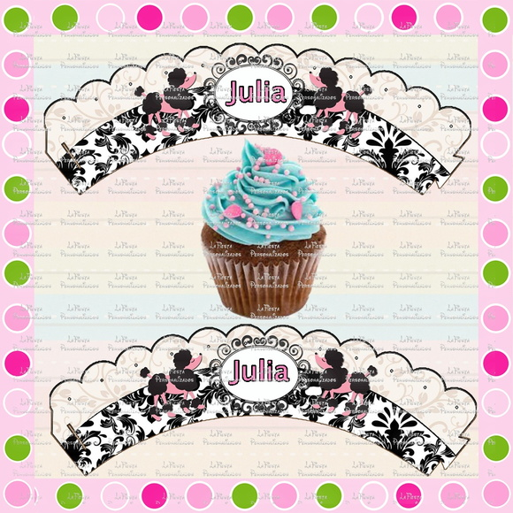 Wrappers para Cupcake Paris