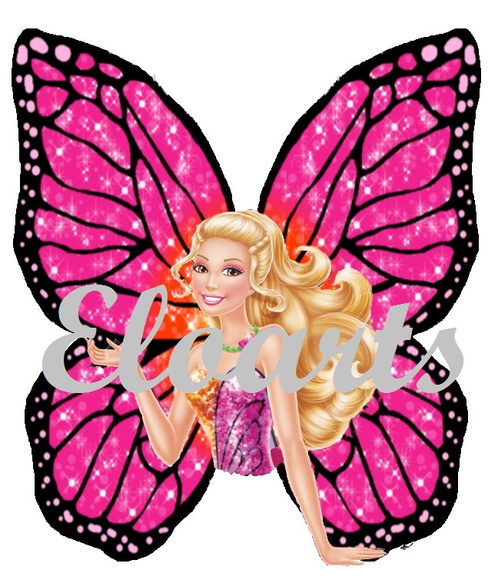 Aplique Busto Barbie Butterfly