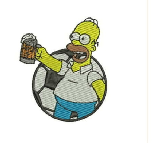 Patch Bordado Termocolante Homer Simpson