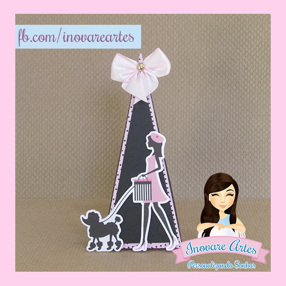 Caixa Cone tema Barbie Paris